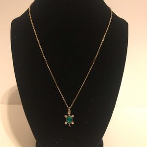 Jeweled Turtle Necklace